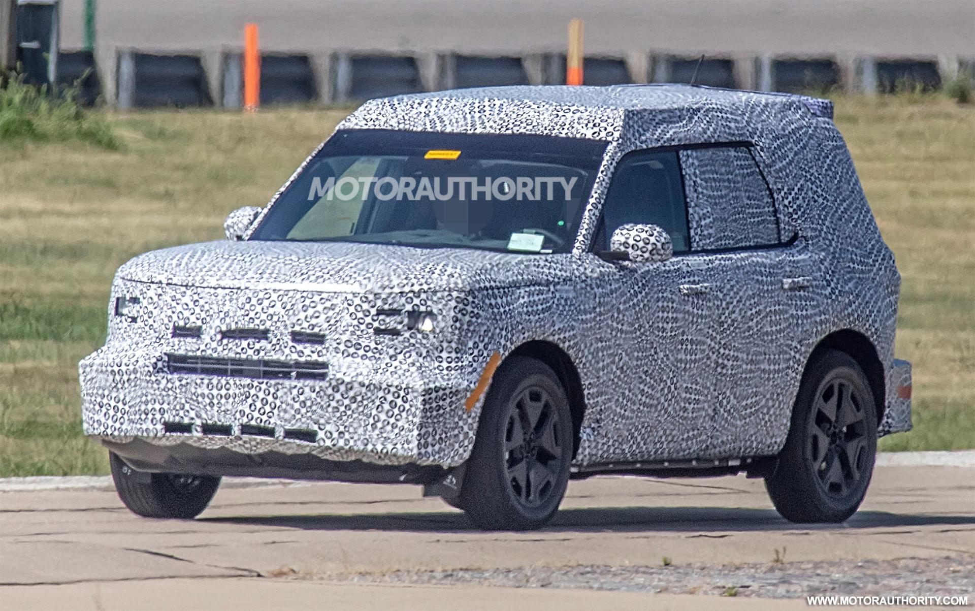 2021 Ford Baby Bronco Spy Shots