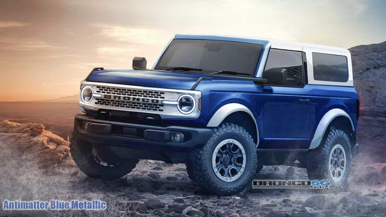 2021 Ford Bronco Rendered Stylishly In Both 2- And 4-Door Format