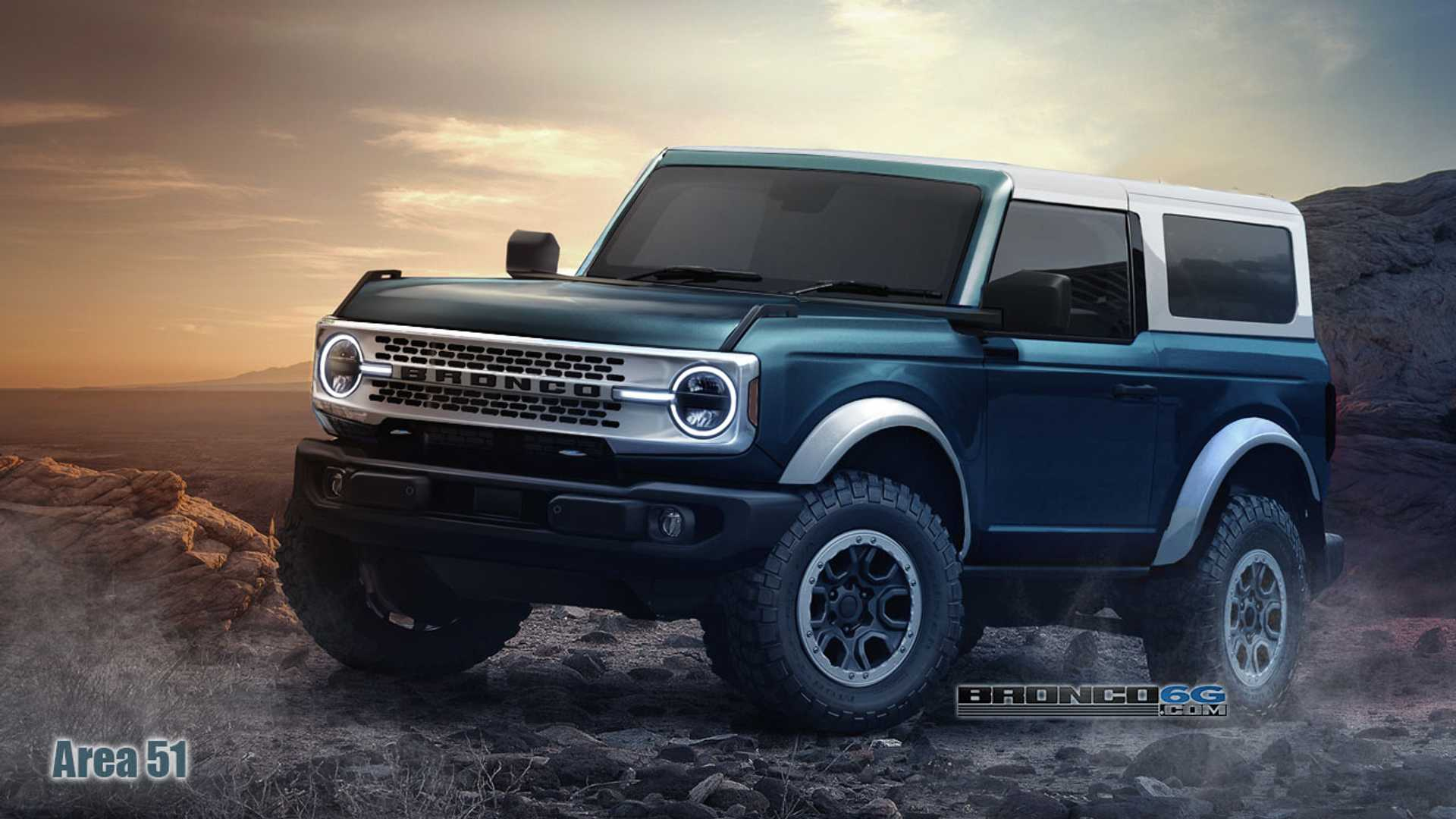 2021 Ford Bronco Renderings Show Off Colors In 2-, 4-Door