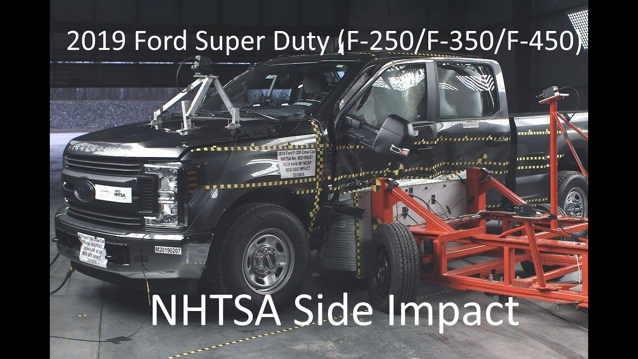 2019-2021 Ford F-250/f-350/f-450 Crew Cab Nhtsa Side Impact