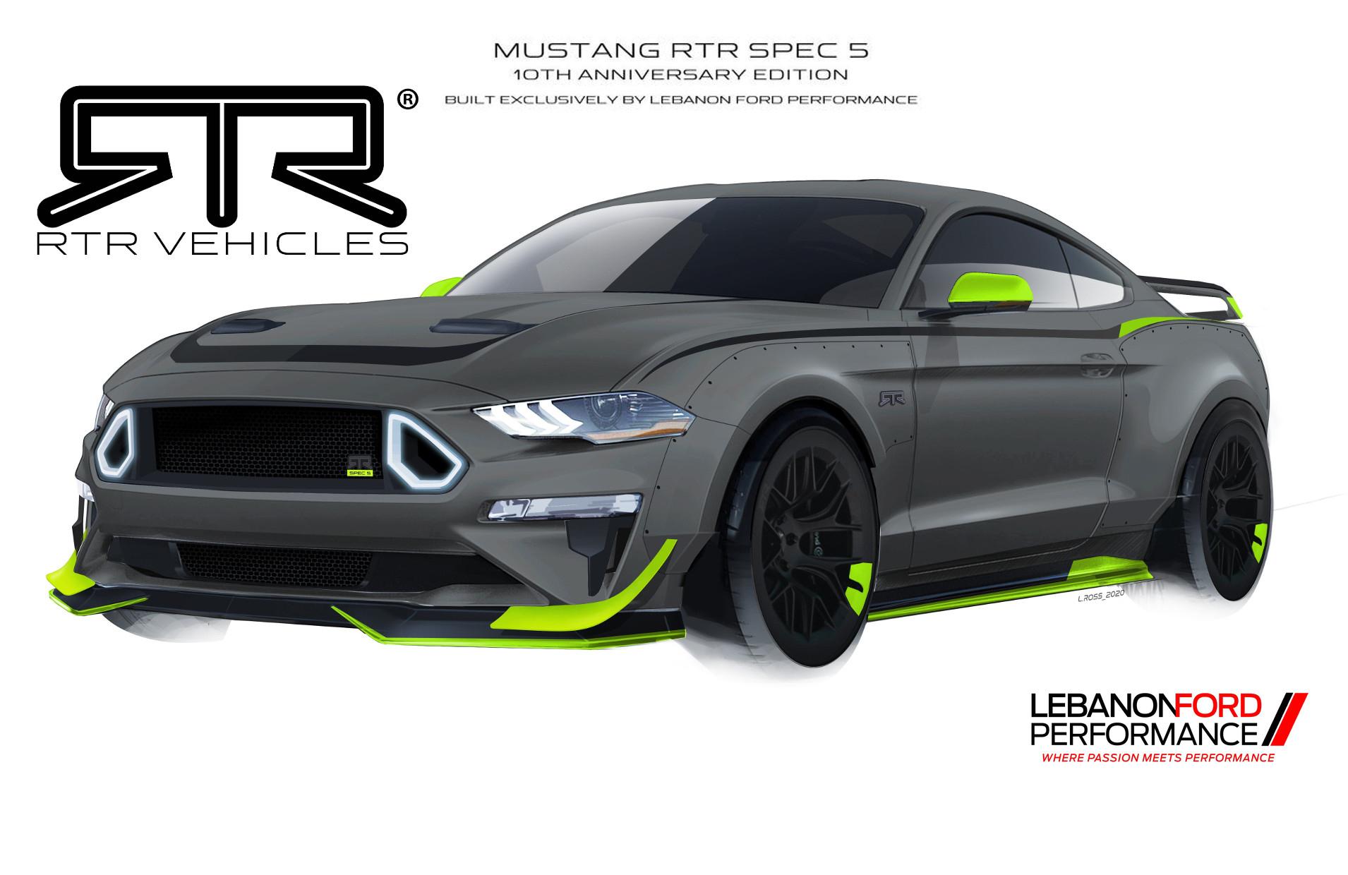 Rtr Sort Une Mustang De 750 Chevaux Ultra-Limitée Pour Ses